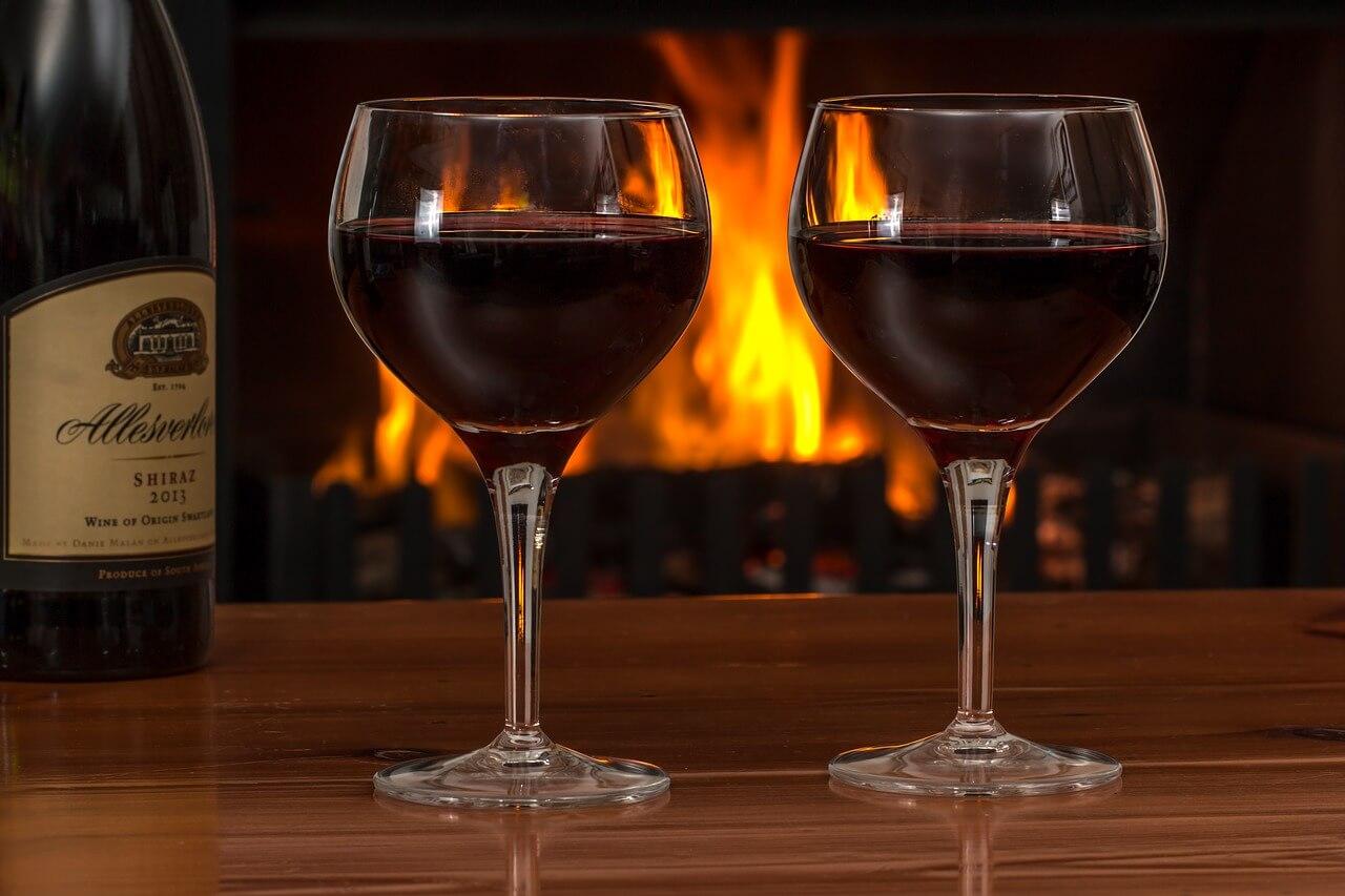 rode wijn kamertemperatuur